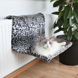 Lit radiateur, peluche léopard des neiges 58 × 30 × 38 cm