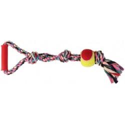 Denta Fun Corde de jeu avec balle de tennis trixie