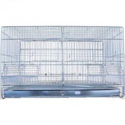 Cage d'élevage double galva 55 cm