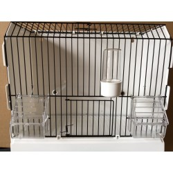 Cage de exposition, 3 porte, galvanise noir