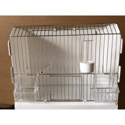 Cage d' exposition, 3 porte, galvanise chromé