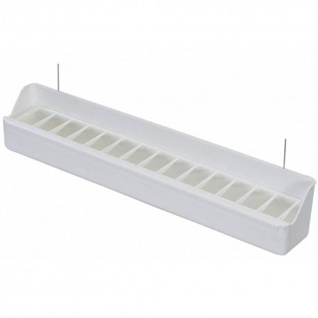 Mangeoire volière blanc 39x5x6,5cm